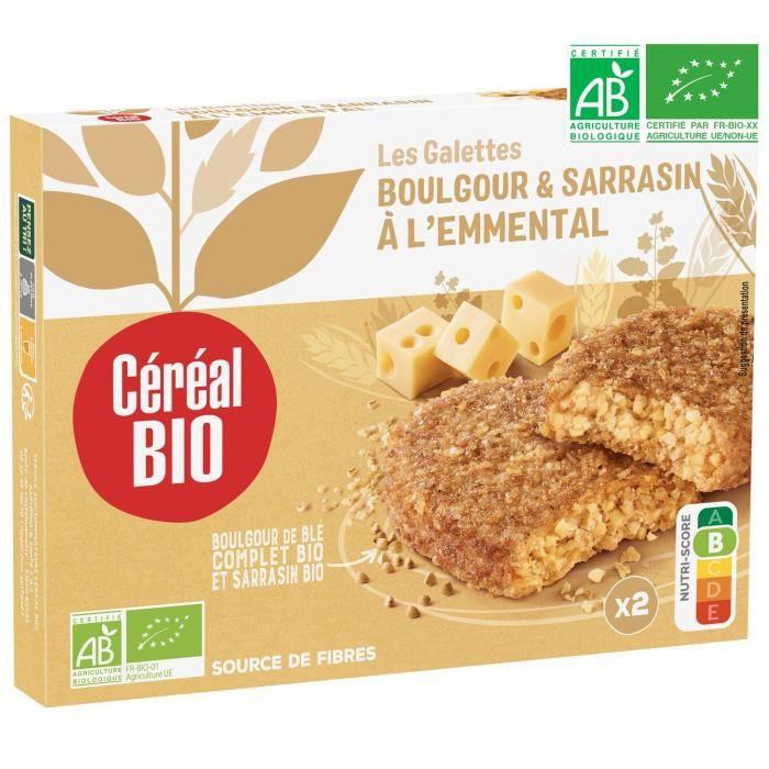 CEREAL BIO Galettes de céréales cuisinées à base de boulghour, de sarrasin et de fromage Bio - 200 g