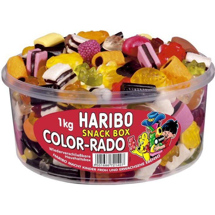Haribo Color-Rado, gommes de fruits réglisse 1 KG