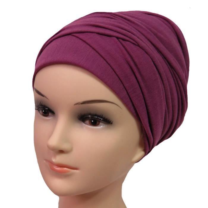 Hijab Femme Foulard Écharpe Turban Châle Islamique, Tissu en Jersey Premium (Baie)