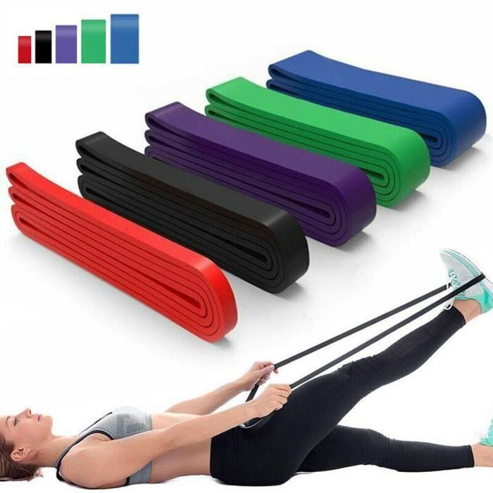 208*4.5*45mm Bande de résistance de bande de tension d'anneau épais en latex, Band for Training Stretching aléatoires de couleur