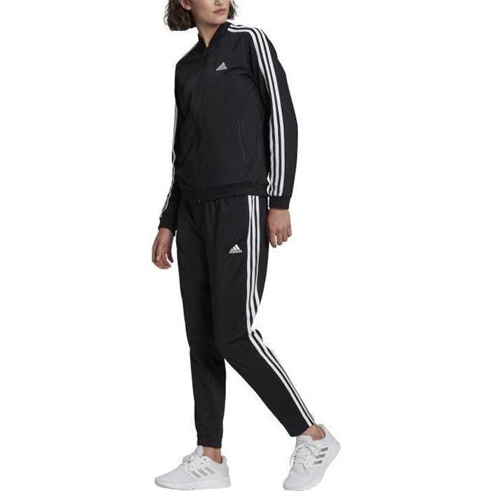 Adidas Survêtement pour Femme Essentials 3-Stripes Noir