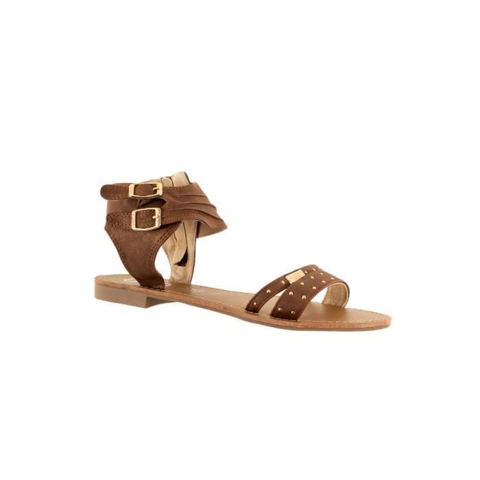 sandales - nu pieds lpb belize camel 40