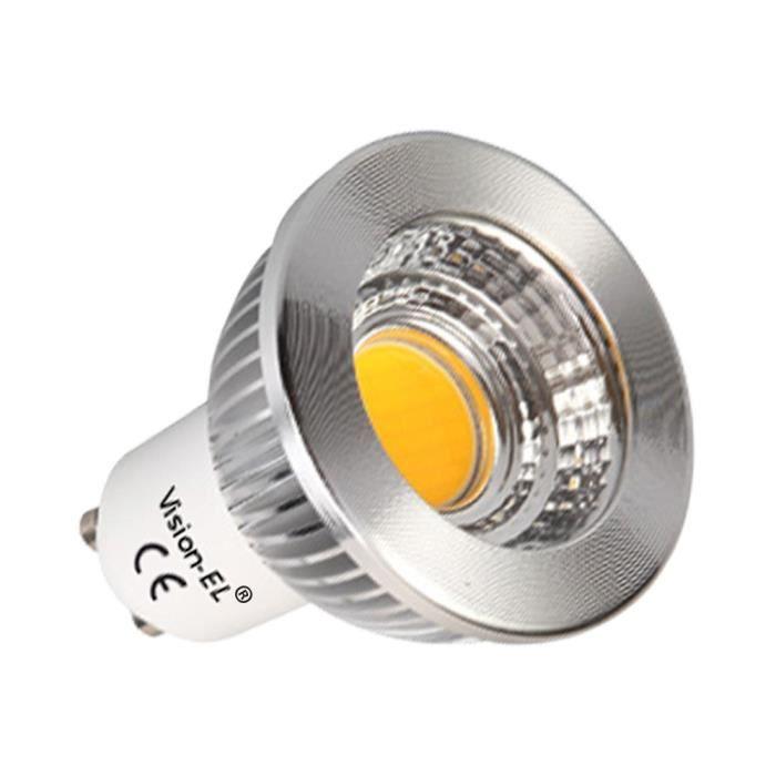 Vision-EL - Ampoule LED GU10 aluminium - 3000°K Dimmable