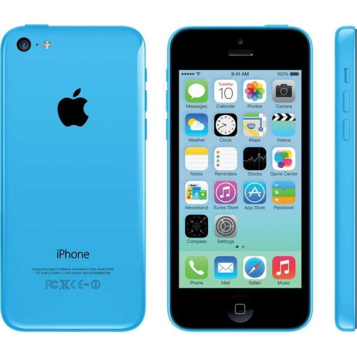 apple iphone 5c 16 go bleu reconditionn grade a achat. Black Bedroom Furniture Sets. Home Design Ideas