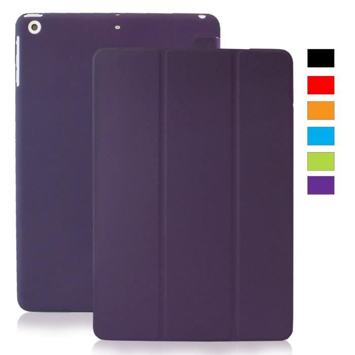 coque ipad mini 1 2 3 retina khomo clair violette prix pas cher cdiscount. Black Bedroom Furniture Sets. Home Design Ideas