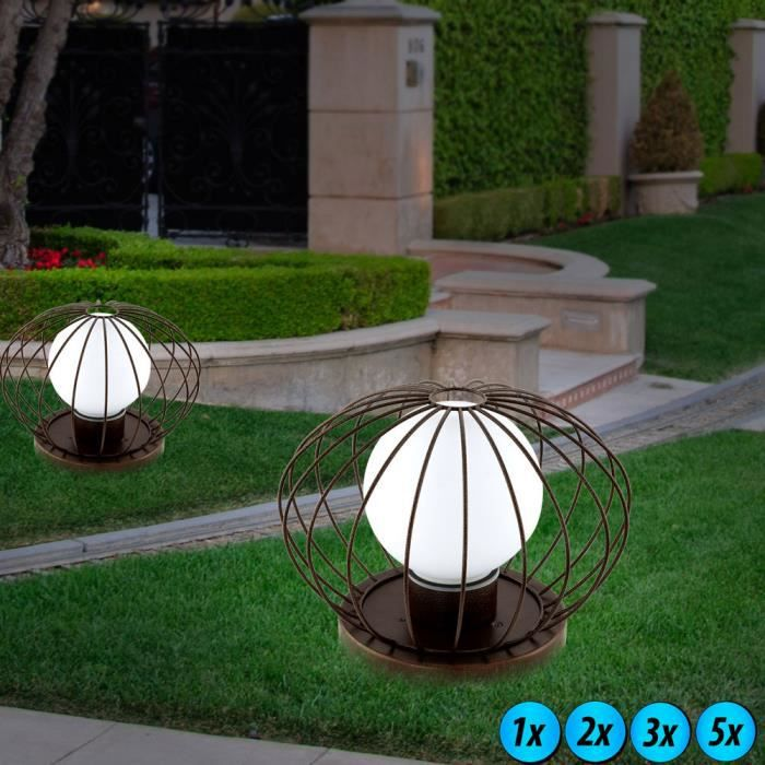 lampadaire ext rieur led luminaire sur pied boule lampe del jardin terrasse d coration 2. Black Bedroom Furniture Sets. Home Design Ideas