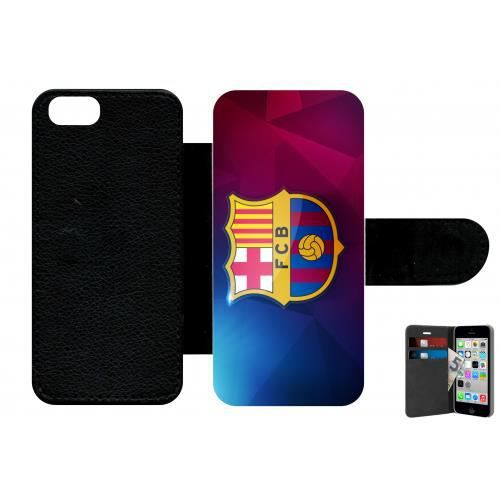 Etui à rabat pour iphone 5 5s football club barcelone barca ...