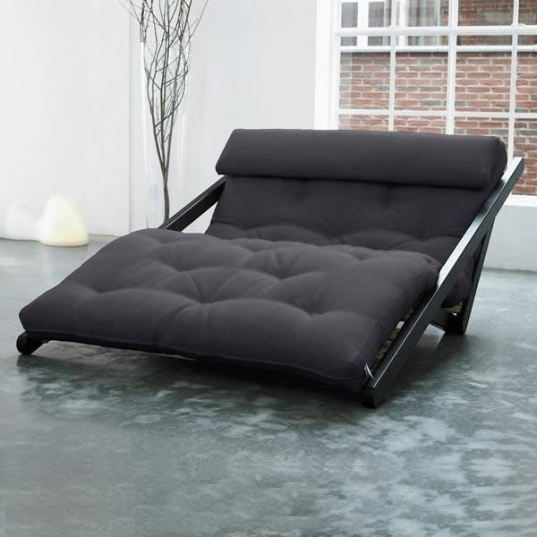 convertible figo 120 weng futon noir achat vente canap sofa divan cdiscount. Black Bedroom Furniture Sets. Home Design Ideas