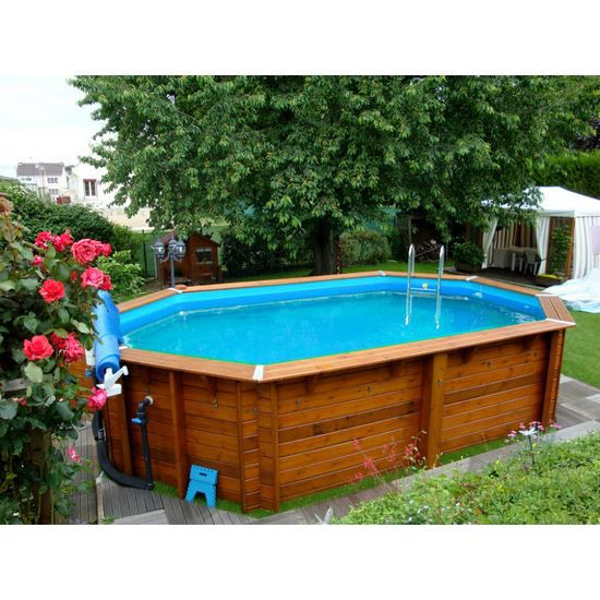 Piscine bois nortland ubbink ocea allong e en k achat for Piscine bois en kit