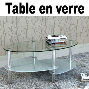 Table basse ovale en verre meubles bon prix moncornerdeco - Table basse verre ovale ...