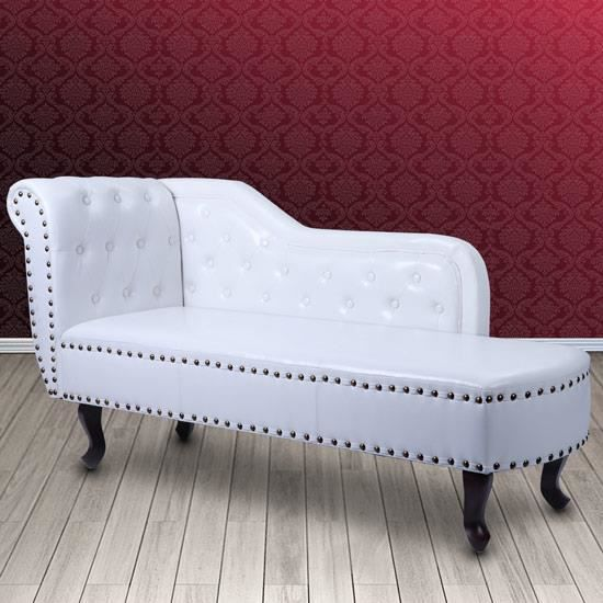 m ridienne chesterfield blanc achat vente m ridienne. Black Bedroom Furniture Sets. Home Design Ideas