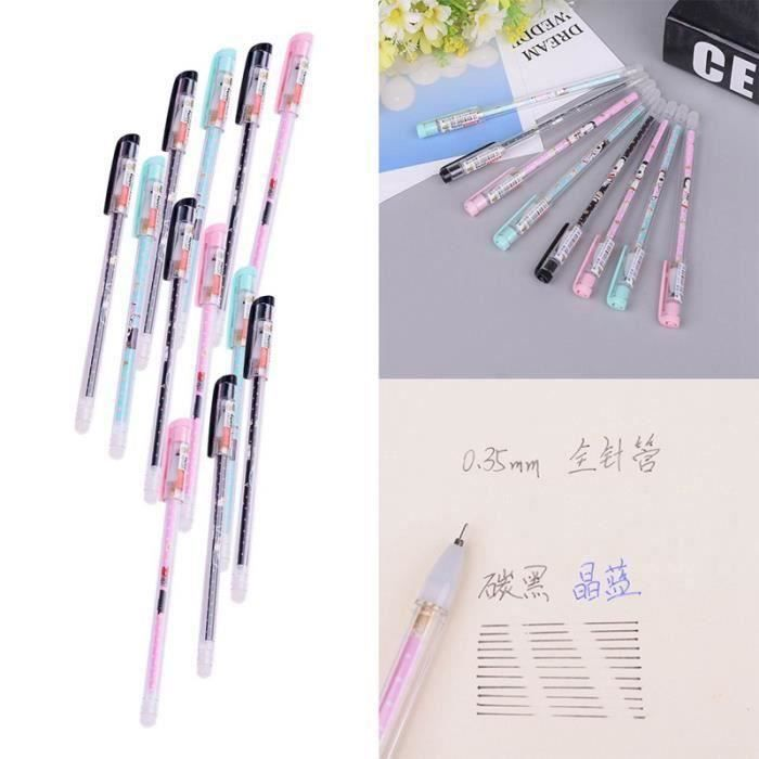 Stylo - Parure 12pcs bande dessinée vague kawaii neutres stylos f