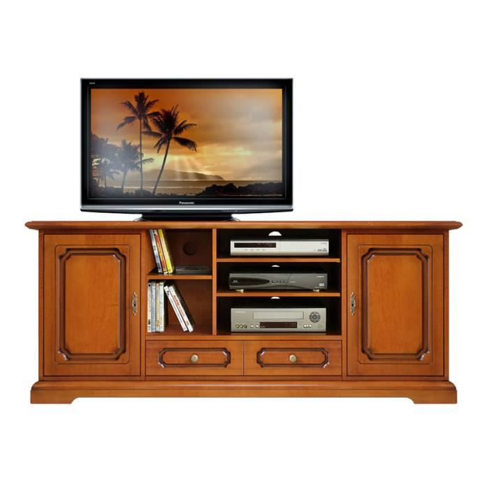 meuble tv hi fi en bois 160 cm largeur achat vente meuble tv meuble tv hi fi 160 cm cdiscount. Black Bedroom Furniture Sets. Home Design Ideas
