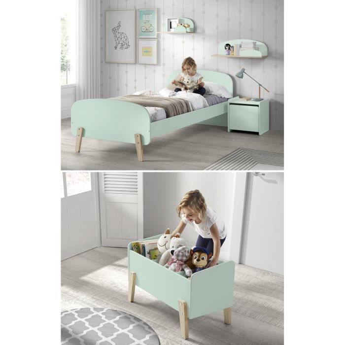 Kiddy chambre enfant compl te style scandinave en bois pin for Chambre complete adulte en pin massif
