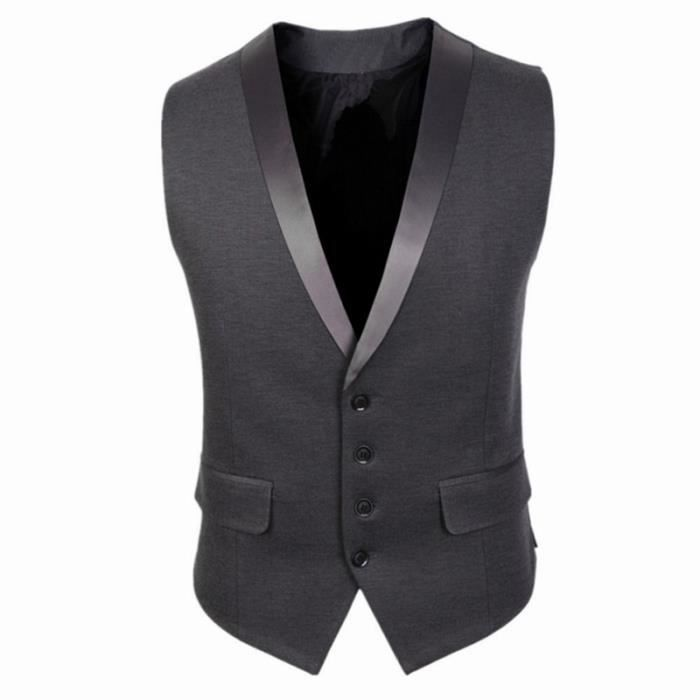 gilet homme slim costume veste sans manche homm gris. Black Bedroom Furniture Sets. Home Design Ideas