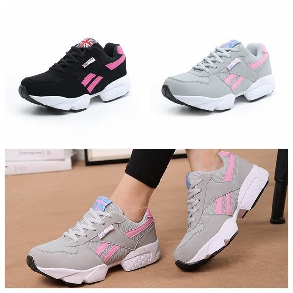 Femme Homme Lovers Baskets Chaussures Jogging Course Gym Fitness Sport  Lacet Sneakers air Running Taille 36-46 Noir Noir - Achat   Vente basket -  Soldes  ... d7ae029d111