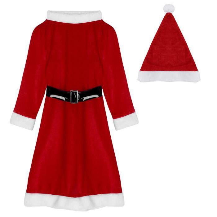 Costume de bébé fille pour fête de Noël déguisement ensemble 2 pièces robe wk-95