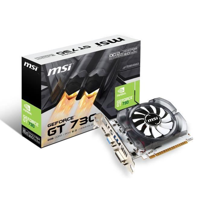 CARTE GRAPHIQUE INTERNE MSI Carte Graphique GeForce GT 730 N730K-2GD3/OCV1