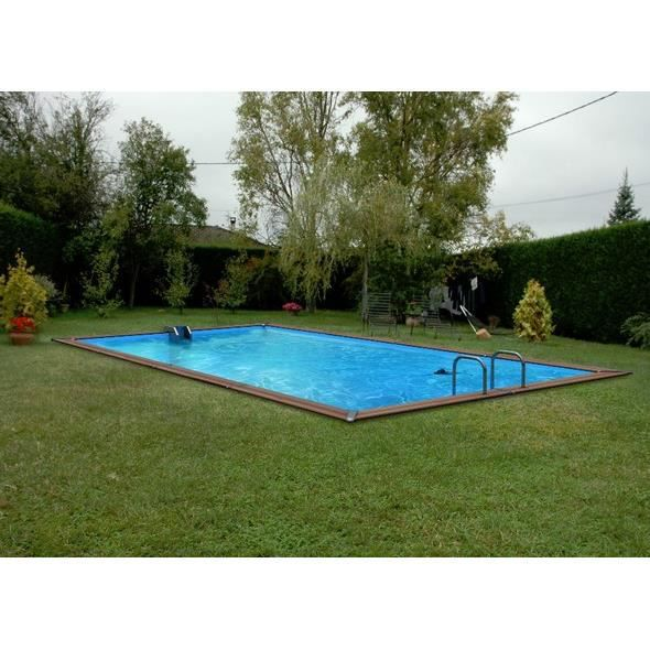 Piscine bois enterree rectangulaire 28 images piscine for Piscine kit bois semi enterree