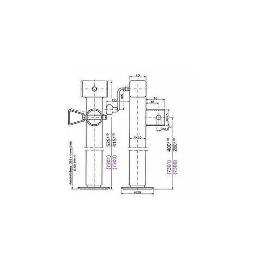 Givi ES4103 l/Élargissement de la B/équille Lat/érale