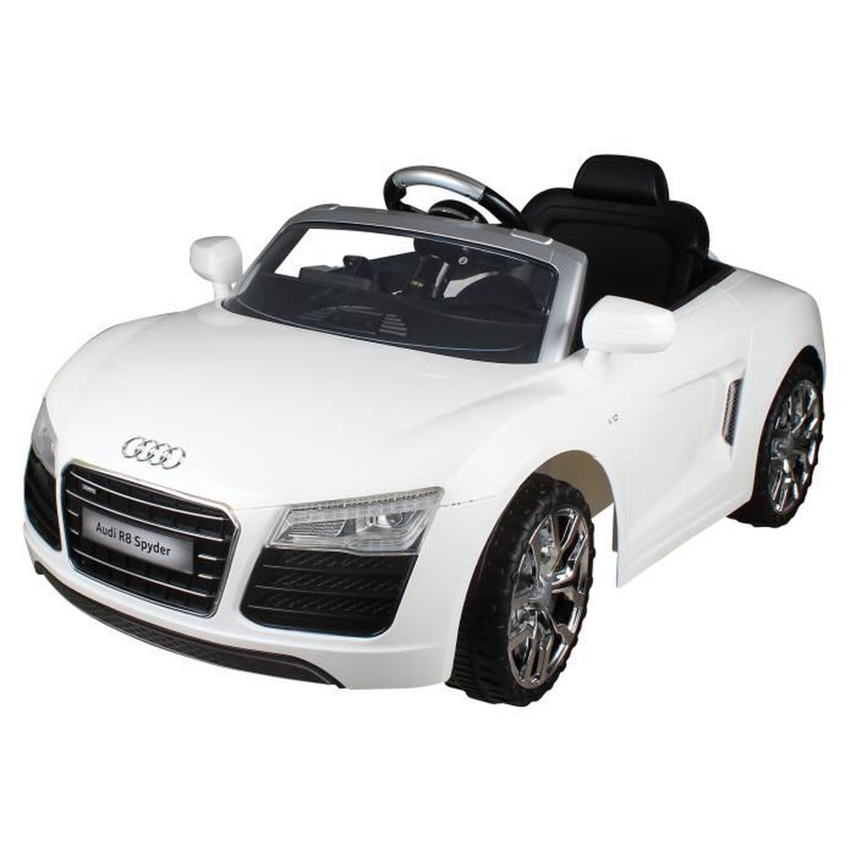 audi r8 spyder voiture lectrique enfants v hicule batterie et t l commande 12v achat vente. Black Bedroom Furniture Sets. Home Design Ideas