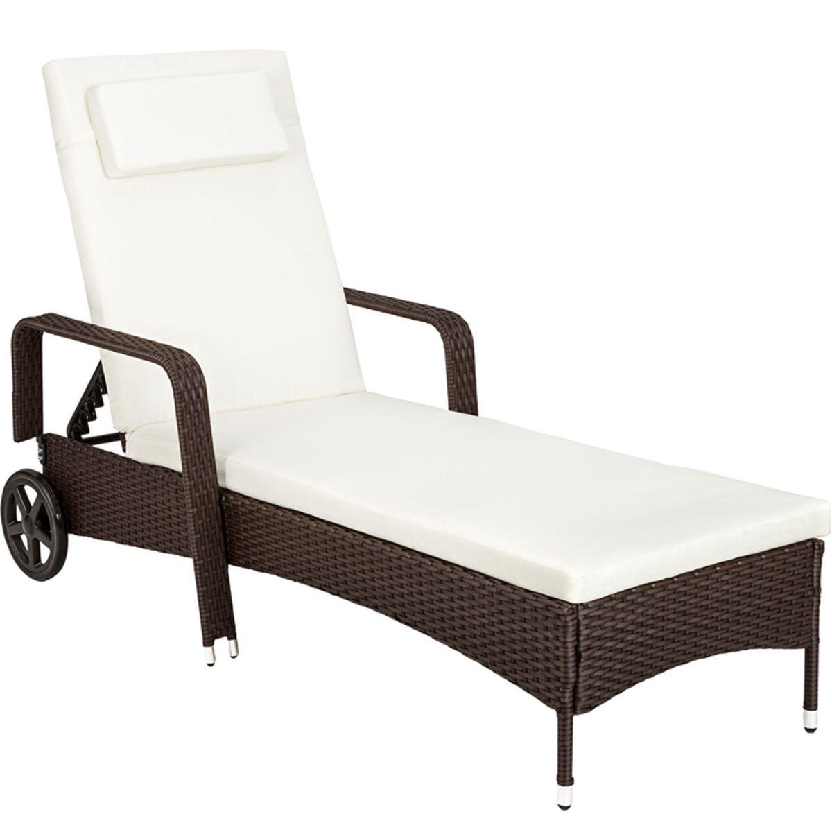 Wood.L Coussin De Chaise Longue Portable pour Jardin pour Voyage Chaise Longue /Épaisse Terrasse Ext/érieur Int/érieur Vacances Jardin