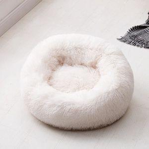 CORBEILLE - COUSSIN Panier Chien Chat Coussin Rond D'intérieur, Blanc