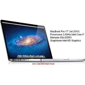 """Top achat PC Portable MacBook Pro 17"""" pas cher"""