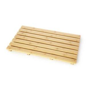 ANTI-DÉRAPANT BAIN La douche tapis en bois rectangulaire salle de bai