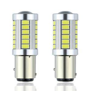Qii lu 2 pi/èces Feu antibrouillard de moto lumi/ère blanche 800LM 80W conversion super lumineux ampoule LED phare