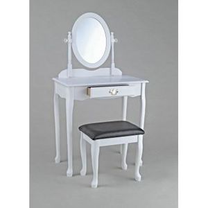 songmics blanc coiffeuse table de maquillage grand commode avec 3 miroirs rabattables 7 tiroirs. Black Bedroom Furniture Sets. Home Design Ideas