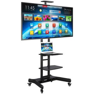 FIXATION - SUPPORT TV Support TV Sur Pied  Yaheetech Chariot Meuble Mobi