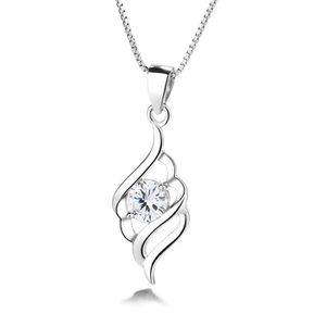 Bamoer Authentique S925 Argent Collier Bleu CZ Rhythm pendentif pour femmes Bijoux