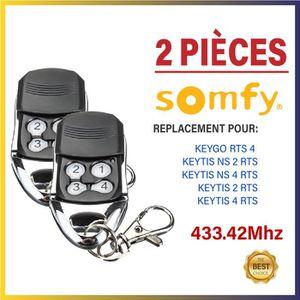 TÉLÉCOMMANDE DOMOTIQUE  Télécommande compatible - SOMFY KEYGO 4 RTS, SOMFY