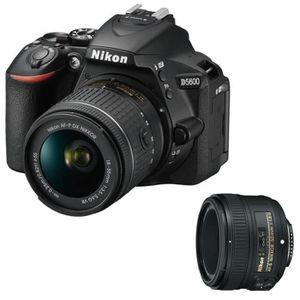 APPAREIL PHOTO RÉFLEX Nikon Reflex D5600 + AF-P 18-55 VR + NIKON AF-S NI