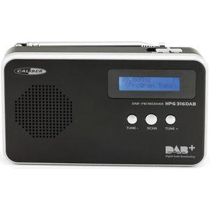 RADIO CD CASSETTE CALIBER HPG316DAB/B Radio portative FM/DAB+ avec p