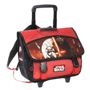 CARTABLE Disney Star Wars - Cartable Scolaire à roulettes