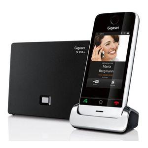 Téléphone fixe Gigaset SL910A, Téléphone DECT, 500 entrées, Ident