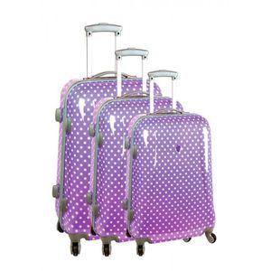 SET DE VALISES Set de 3 valises 4 roues original athène violet