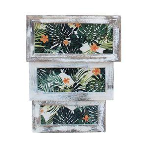 COFFRE - MALLE Rebecca Mobili Set 3 Boîtes de Rangement  Fruits L