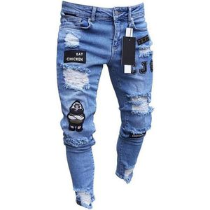 JEANS Pantalons Hommmes Mode Jeans Hip Hop Cool Streetwe