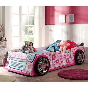 lit voiture fille achat vente lit voiture fille pas cher cdiscount. Black Bedroom Furniture Sets. Home Design Ideas