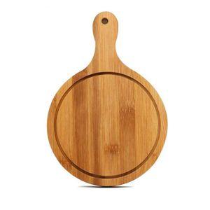 PLANCHE A DÉCOUPER Planche à pizza en bois de service Paddle, rond à
