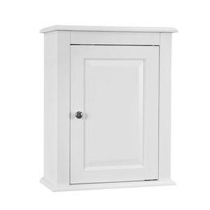 COLONNE - ARMOIRE SDB SoBuy® FRG203-W Meuble Haut de Salle de Bain - 1 p