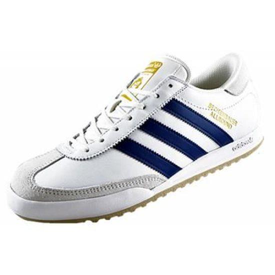 Basket Adidas Originals Beckenbauer All Round Blanc / bleu royal ...