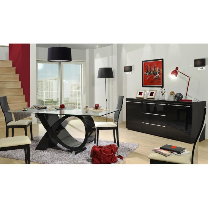 cdiscount salle manger awesome black salle manger pices laque noir with cdiscount salle manger. Black Bedroom Furniture Sets. Home Design Ideas