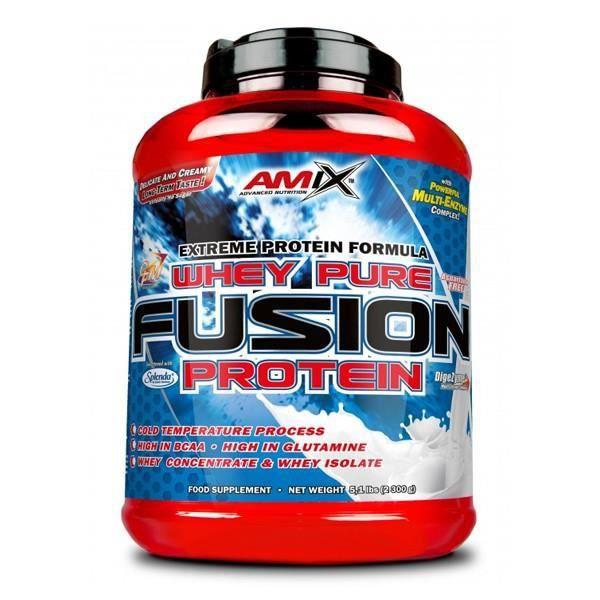 PURE WHEY PROTEIN FUSION 2.3 KG . DOUBLE CHOCOLAT - COCO SAVEUR
