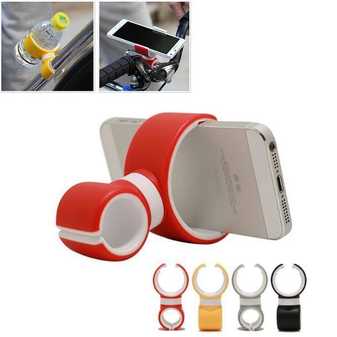 Support de téléphone de vélo,Support de téléphone mobile de type C double,Support de sortie d'air de voiture,couleur aléatoire