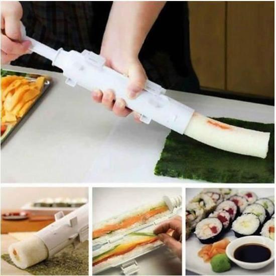 Appareil à Sushis et Makis à Piston Blanc Rouleaux Kit Sushi Sushi moule