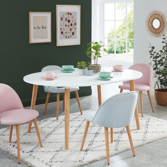 ORACLE Table ronde extensible - laqué blanc satiné - L120-160cm